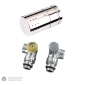 Preview: Simplex Design Thermostat Ventil Set chrom DN15 winkeleck Thermostatkopf