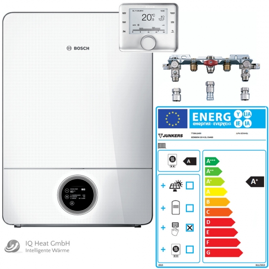 BOSCH Junkers Gas-Brennwertgerät System Paket GC9000iW20H Therme Heizung