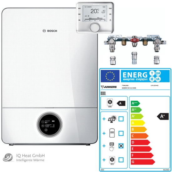 BOSCH Junkers Gas-Brennwertgerät System Paket GC9000iW30H Therme Heizung