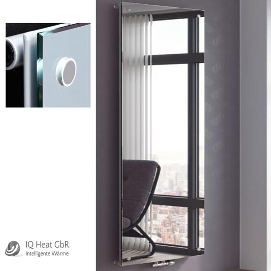 design paneelheizk rper panio crystal mit spiegel heizwand vertikalheizk rper heat store. Black Bedroom Furniture Sets. Home Design Ideas