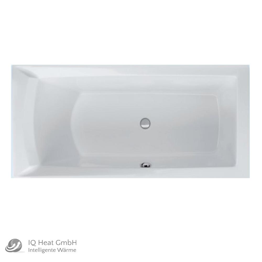 Super Acryl Badewanne Dora 160 x 75 cm links weiß Wanne Styropor ZM36