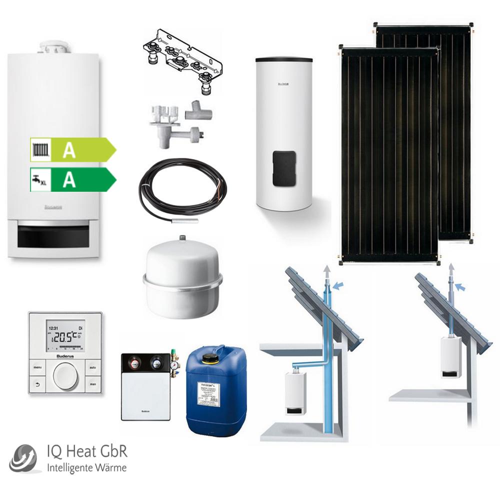 buderus gas brennwert therme gb172 solar paket f r. Black Bedroom Furniture Sets. Home Design Ideas