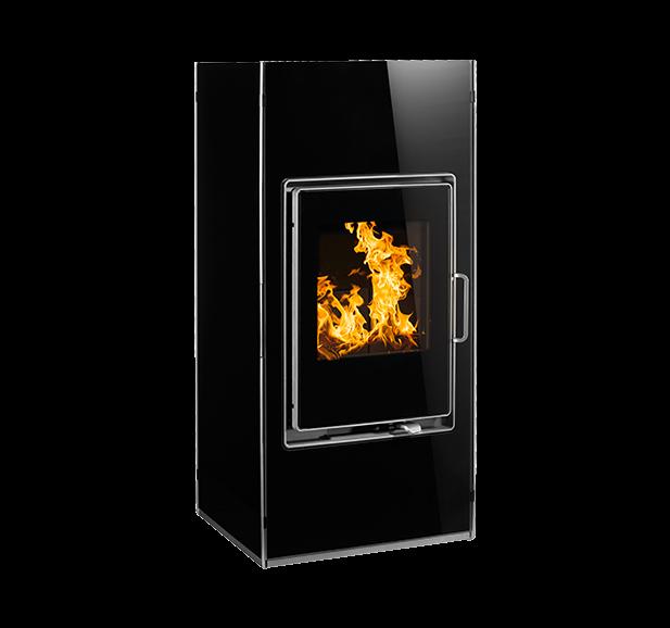 buderus lucrum kaminofen schwarz 8 kw wassergef hrt kamin ofen holzofen heat store. Black Bedroom Furniture Sets. Home Design Ideas