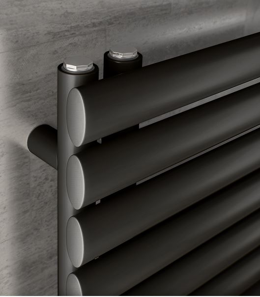 Design Badheizkörper Forte Up anthrazit - Paneelheizkörper horizontal  Badwärmer