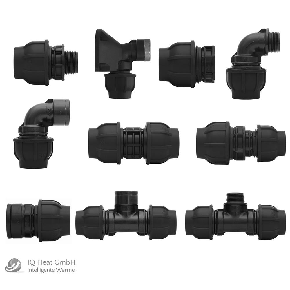 Auswahl GEBO Trinkwasser Klemmverbinder Kunststoff Fittinge für PE-Rohr