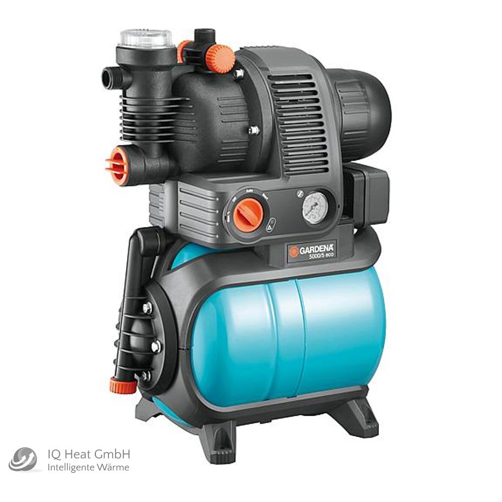 hauswasserwerk gardena 5000/5 eco 1100w fördermenge 4500l/h 5 bar