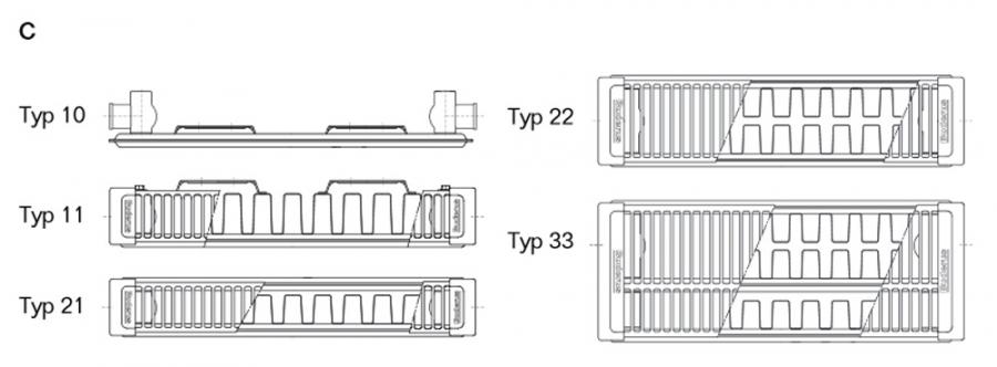buderus kompakt plan heizk rper c plan bh 600 typ 11 21 22 33 halterung heat store. Black Bedroom Furniture Sets. Home Design Ideas