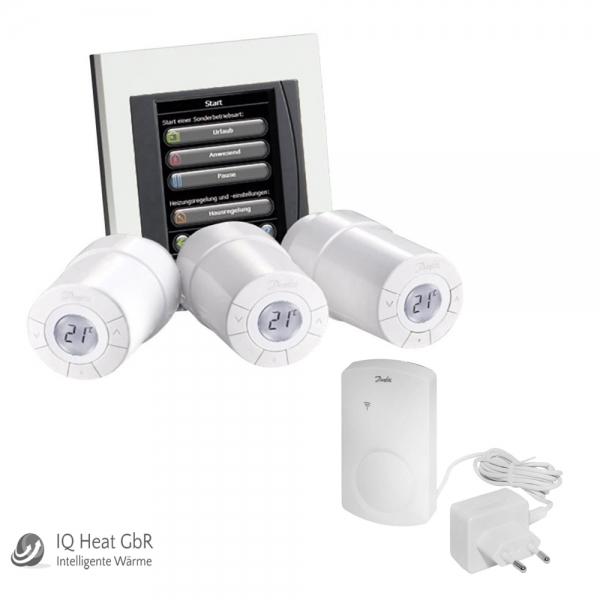 danfoss link smarthome starterpaket inkl thermostatk pfe 3 stk heat store. Black Bedroom Furniture Sets. Home Design Ideas