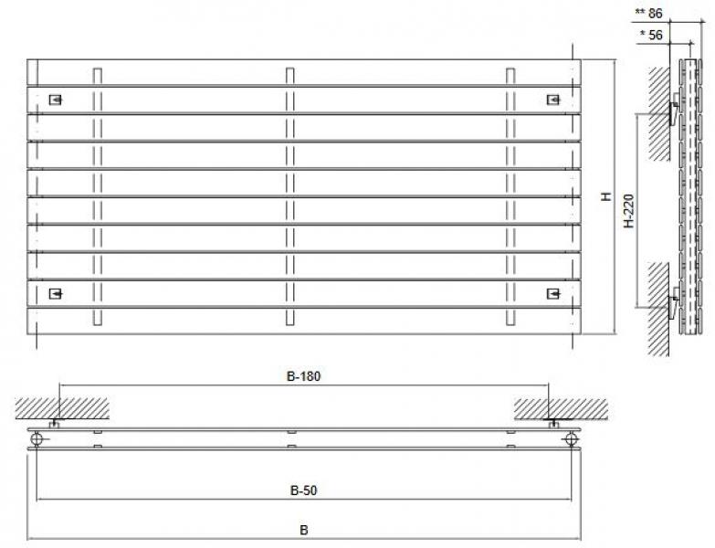 design paneelheizk rper horizontal panio anthrazit. Black Bedroom Furniture Sets. Home Design Ideas